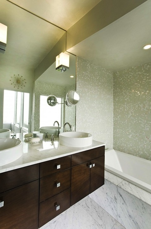 Floating vanity modern bathroom mark english architects for Houzz com bathroom tile