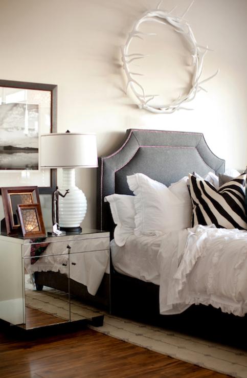 Mirror Nightstand, Contemporary, bedroom, Ashlee Raubach Photography