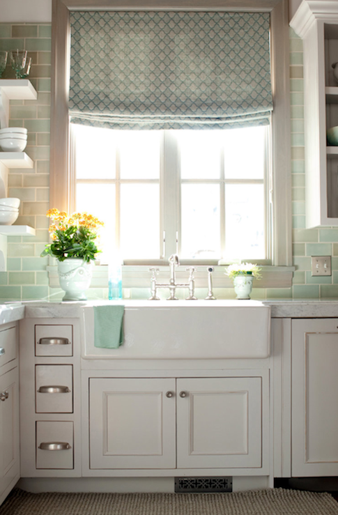 Blue Subway Tile Backsplash Design Ideas