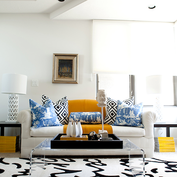 White Chesterfield Sofa, Contemporary, living room, Caitlin Wilson Design
