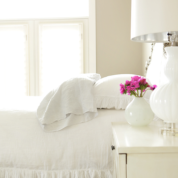 Ruffle Bedding, Transitional, bedroom, Ashlee Raubach Photography