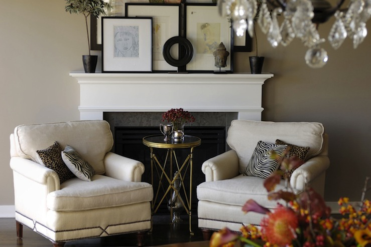 Fireplace Vignette Design Ideas