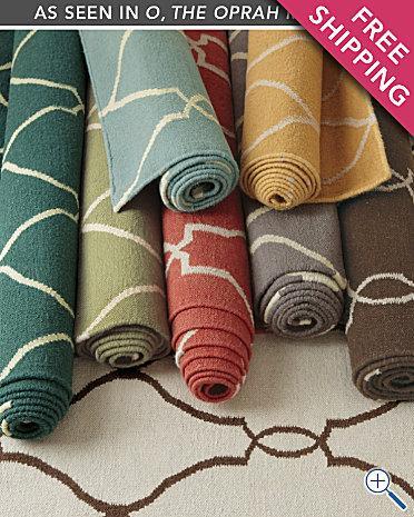 Bogart Flat Weave Wool Rug   Garnet Hill