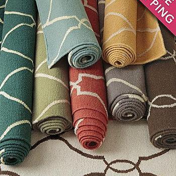 Bogart Flat-Weave Wool Rug, Garnet Hill