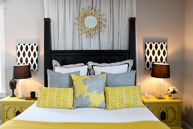 Yellow And Gray Bedroom Design Ideas