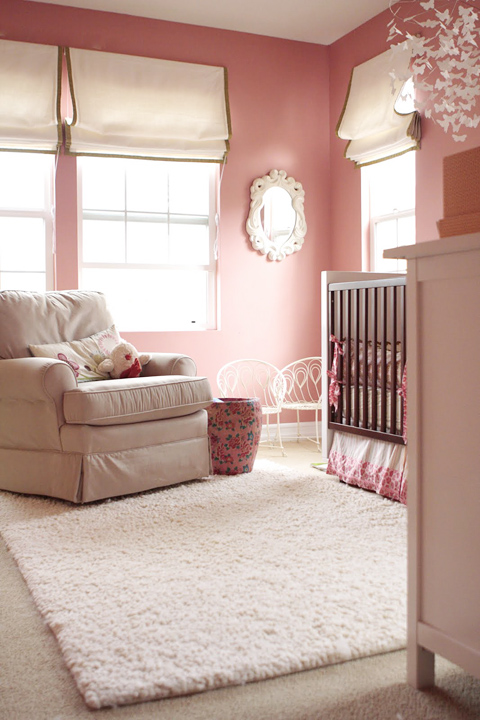 Pink Girl S Room Paint Colors Traditional Girl S Room