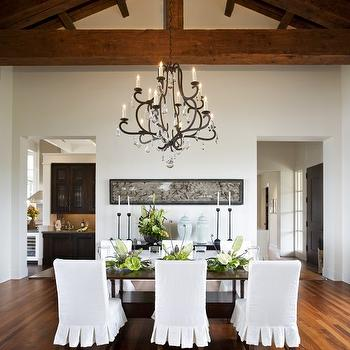 Ruffled Dining Chairs, Transitional, dining room, Sutton Suzuki Architects