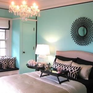 Tiffany Blue Bedroom, Eclectic, bedroom, Benjamin Moore Coastal Paradise, Amy Carman Design