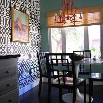 Pagoda Chandelier, Eclectic, dining room, Beach Bungalow 8