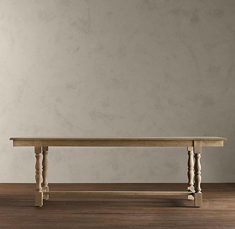 Weathered Gray Grand Baluster Dining Tables