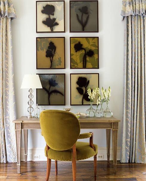Olive Green Velvet Chair