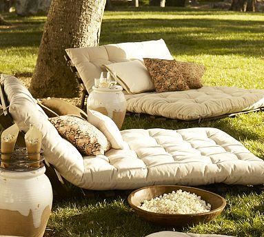 Futon Lounger Pottery Barn