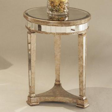 Borghese Mirrored Round End Table Look 4 Less