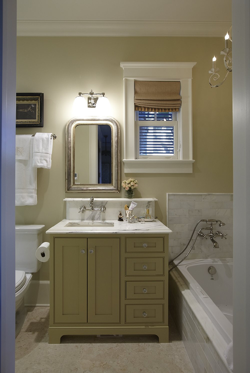 Gray Green Bathroom Paint Color Design Ideas