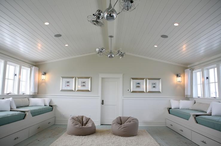 Blue Beadboard Ceiling Design Ideas