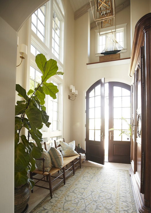 Double front doors transitional entrance foyer urban for Exterior entryway design ideas