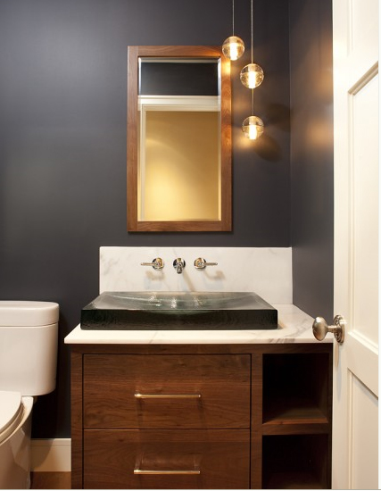 Dark gray paint colors contemporary bathroom Contemporary bathroom colors