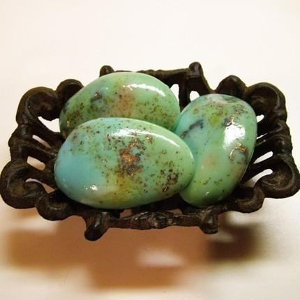 The Trio Med Tumbled Turquoise Rock Soap by amethystsoap on Etsy