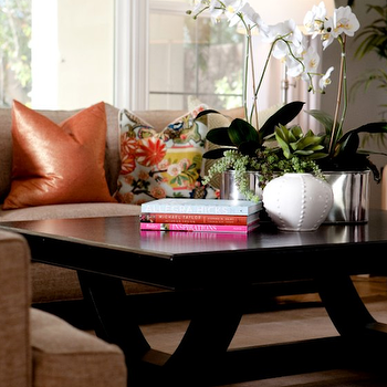 Trestle Coffee Table, Transitional, living room, Belmont Design Group