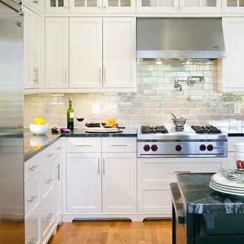 Iridescent Glass Tile Backsplash Design Ideas