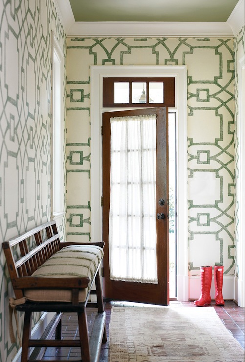 Foyer Wallpaper : Wallpaper for foyer transitional entrance