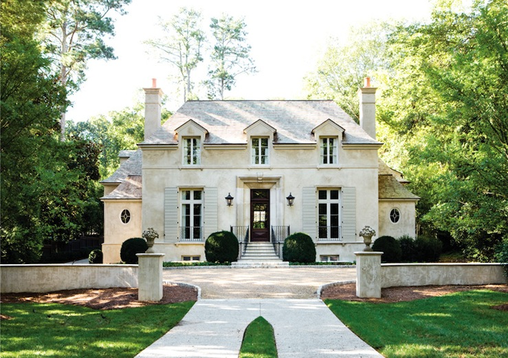 French chateau french home exterior atlanta homes Parisian style home