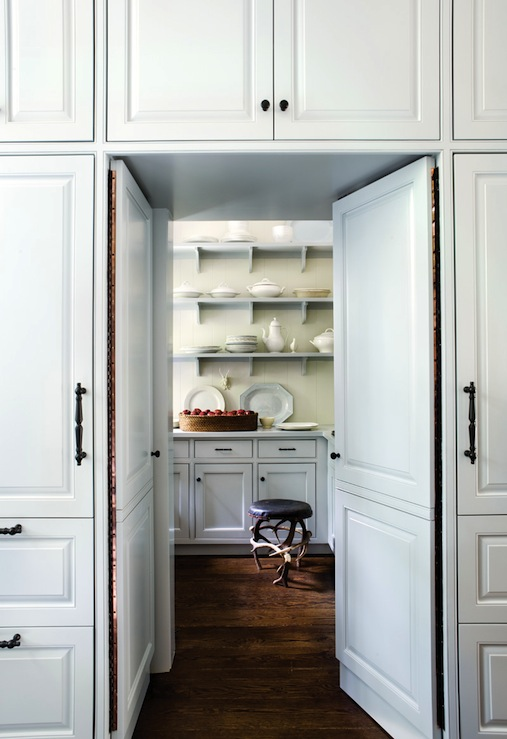 Hidden pantry transitional kitchen atlanta homes for House plans with walk in pantry