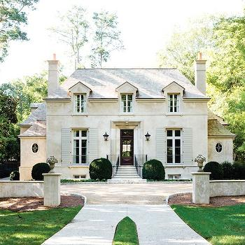 French Chateau, French, home exterior, Atlanta Homes & Lifestyles
