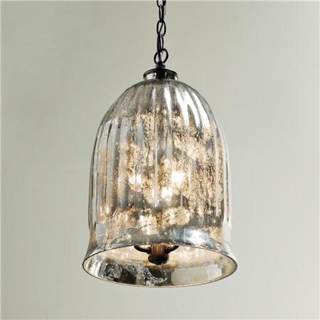 Antique Mirror Bell Jar Pendant Look for Less