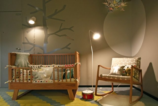 Superb Tree Wall Stencil Contemporary Nursery Alphanode Cool Chair Designs And Ideas Alphanodeonline