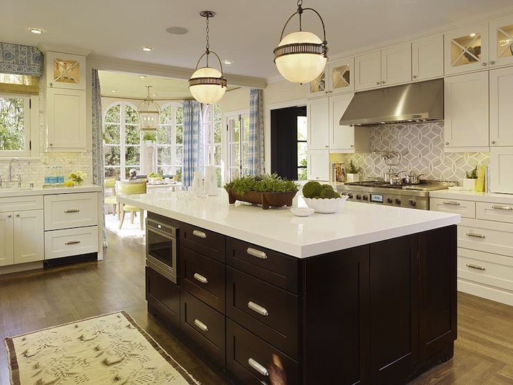White Quartz Countertops Transitional kitchen Tobi Fairley