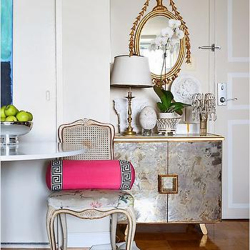 Antique Mirrored Furniture, Eclectic, entrance/foyer, Sara Tuttle Interiors