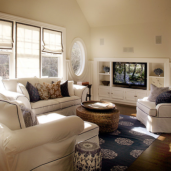 Navy Blue Sofa Transitional Living Room From The