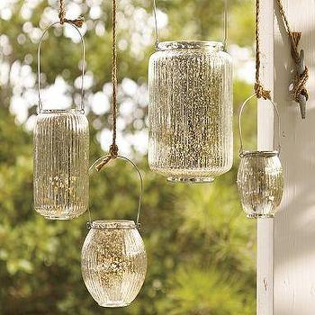 Paros Mercury Glass Lanterns, Pottery Barn