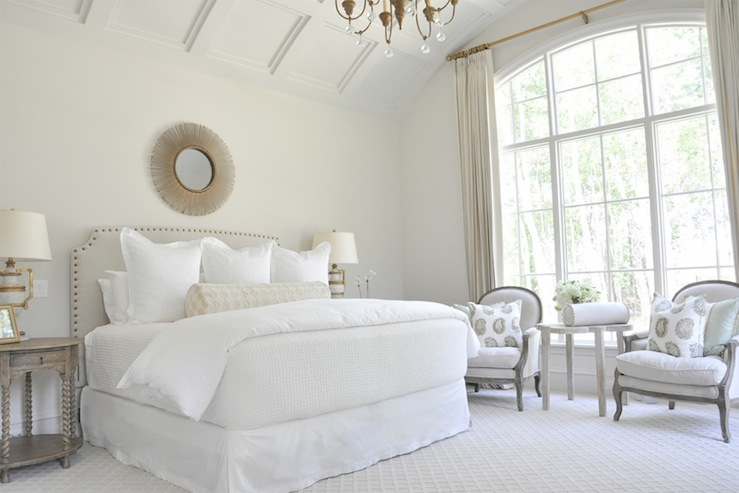 view full size gorgeous monochromatic modern french bedroom design - French Design Bedrooms