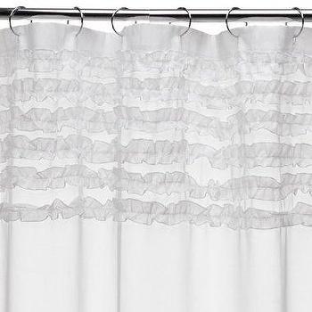 Kojani Sketch Ivory And Black Shower Curtain