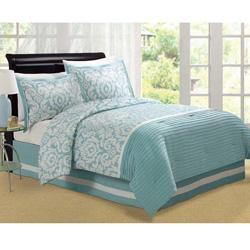 Jasmine Aqua King Size Comforter Set   Overstock.com Link On Pinterest View  Full Size