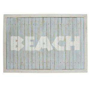 Amazon.com: Concepts Frames, Blue and White Distressed Wooden Wall Sign. Beach 12.5 x 18 Inches: Home & Garden