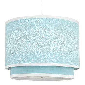 Oilo Pendant Lighting Raindrops Aqua Cylinder Double