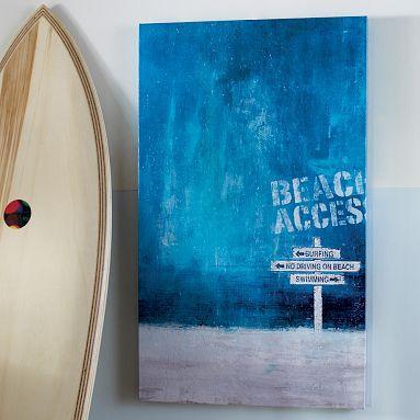 Beach Access Wall Art  PBteen