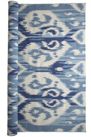 Blue Ikat RugProducts bookmarks design inspiration and ideas