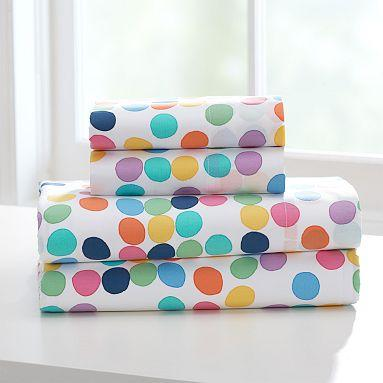 twin xl sheet sets Bright Spot Organic Twin XL Sheet Set   PBteen twin xl sheet sets