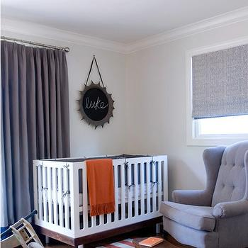 Gray and Orange Nursery, Contemporary, nursery, Jute interior Design