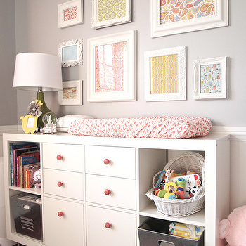 Changing Table and Bookcase, Transitional, nursery, Cape 27