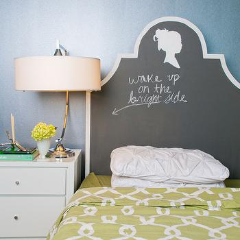 Chalkboard Headboard, Contemporary, bedroom, Inspired MStevens