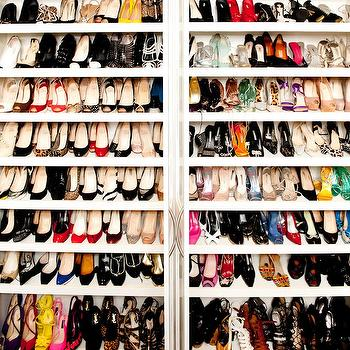 Shoe Shelves, Contemporary, closet