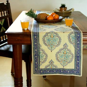 Blue Table Runner Yellow Table Runner Dining Room Table
