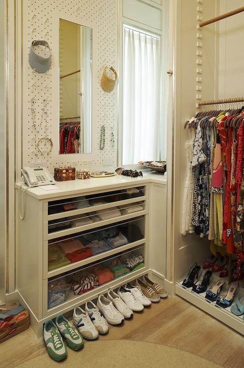 Jewlery Peg Board Contemporary Closet Closette