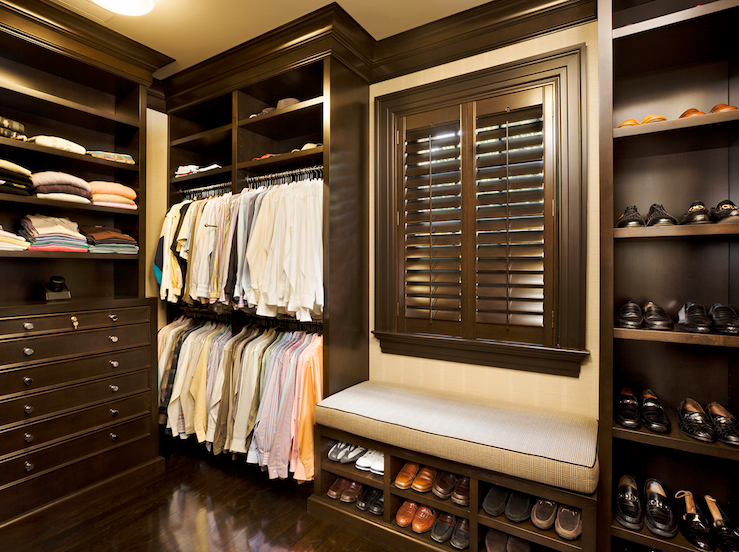 Mens closet ideas contemporary closet closette for Men s walk in wardrobe