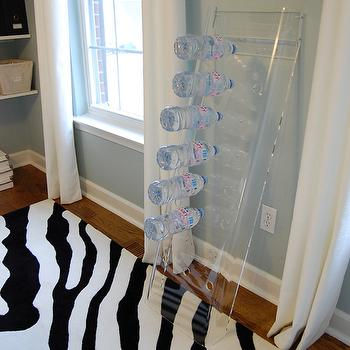 Acrylic Wine Rack, Contemporary, den/library/office, Benjamin Moore Smoke